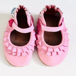 Robeez Shoes - Robeez 'Pandora' Pink Leather Soft Sole Shoes